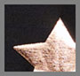 крупные блестящие звезды цвета розового золота/черный