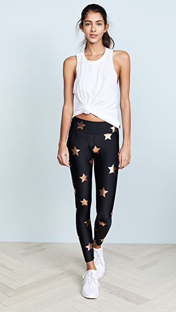 Terez Big Star Foil Print Leggings
