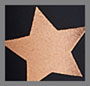 розовое золото крупные блестящие звезды/нейлон