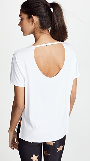 Terez Slashed Shoulder Tee