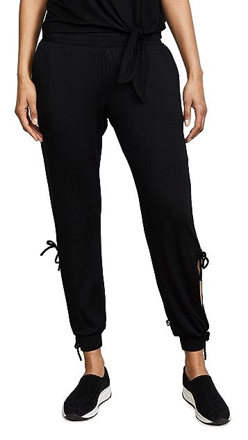 Terez Black Open Tie Side Sweatpants