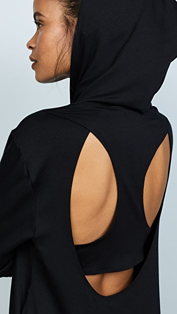 Terez Black Open Back High Low Hoodie