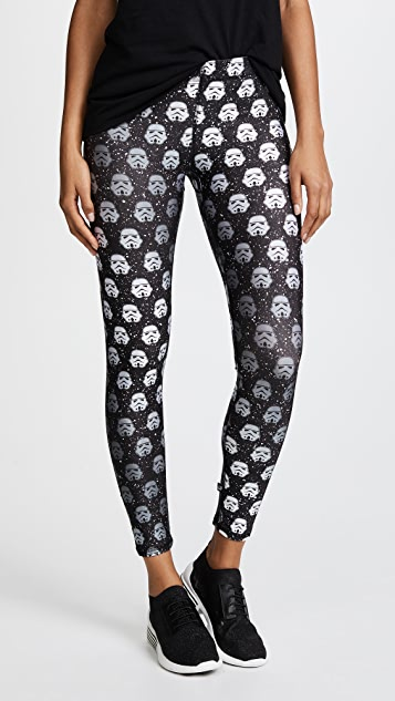 Terez Storm Trooper Black Glitter Performance Leggings - Stom Trooper Black Glitter