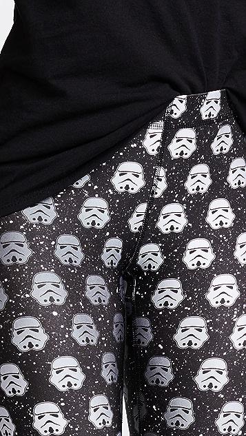 Terez Storm Trooper Black Glitter Performance Leggings