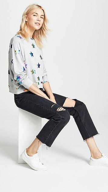 Terez Foil Printed Sweatshirt