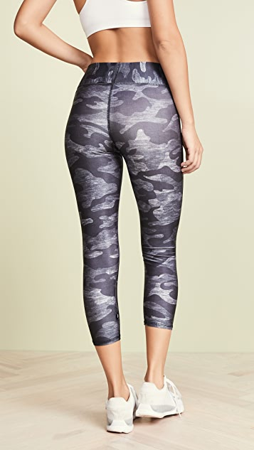 Terez CamoTall Band Capri Leggings