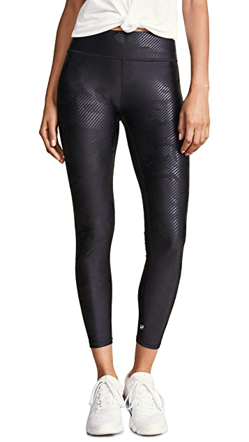Terez Foil Printed Tall Band Leggings