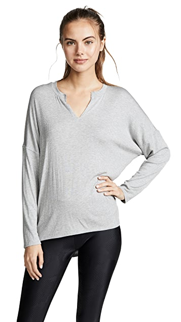 Terez Ribbed Open Back Top