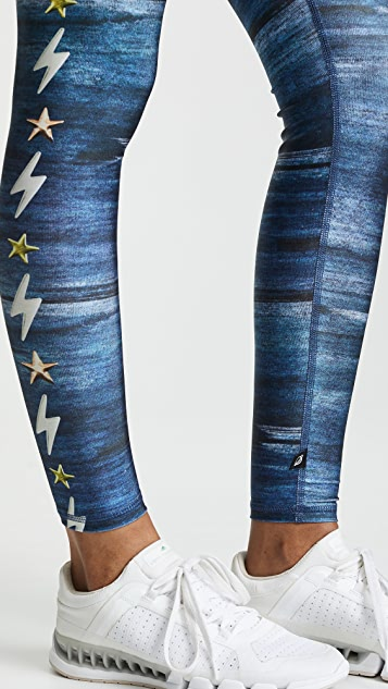 Terez Lightning Stripe Leggings