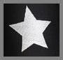 银色星星锡箔/黑色
