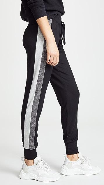 Terez Black Striped Side Joggers