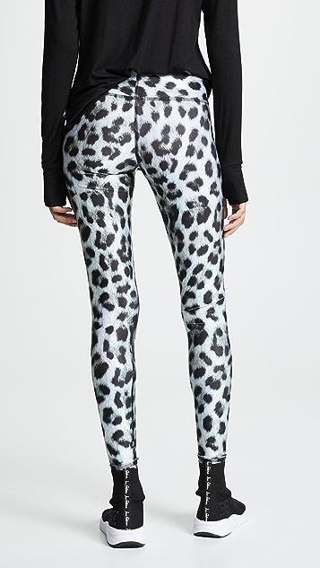 Terez Леггинсы Snow Leopard с высокой талией