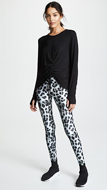 Terez Snow Leopard Tall Band Leggings