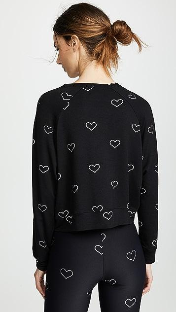 Terez Foil Printed Crew Sweatshirt