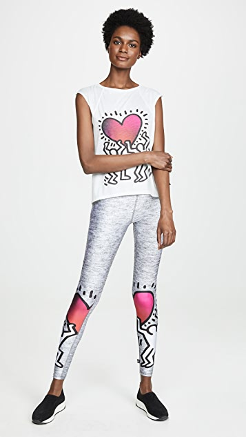 Terez Keith Haring Uplifted Heart T-Shirt