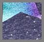 радужный звездный блестящий/темно-синий