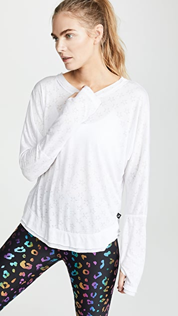 Terez Star Burnout Long Sleeve Tee