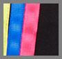 黑色/亮色缎带