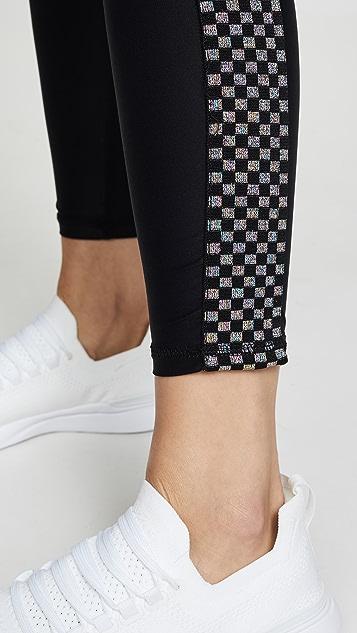 Terez High Band Checkerboard Leggings