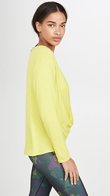 Terez Twist Front Long Sleeve Top