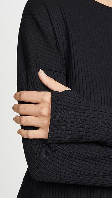 Terez Thumbhole Rib Pullover
