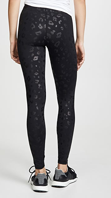 Terez Black Cheetah Foil Leggings