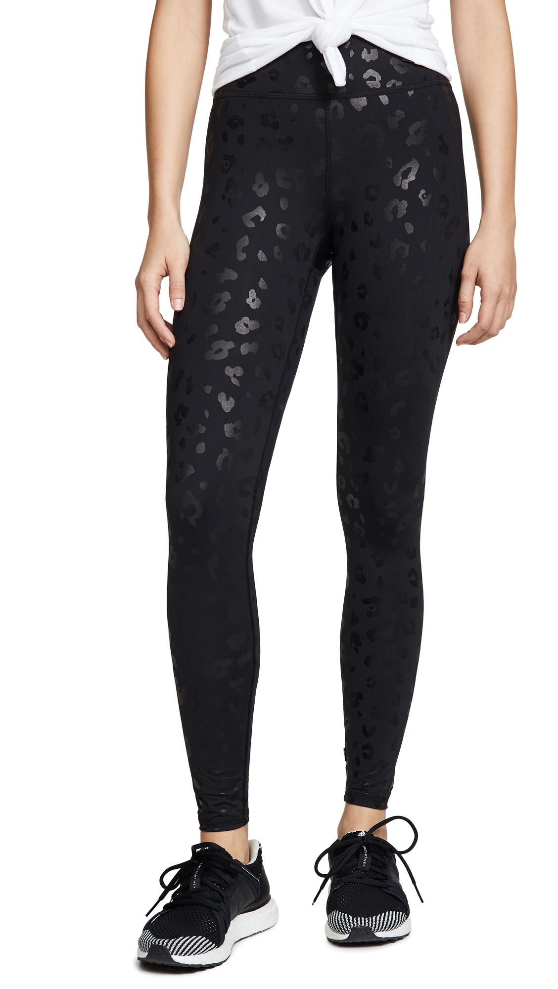 Terez Black Cheetah Foil Leggings