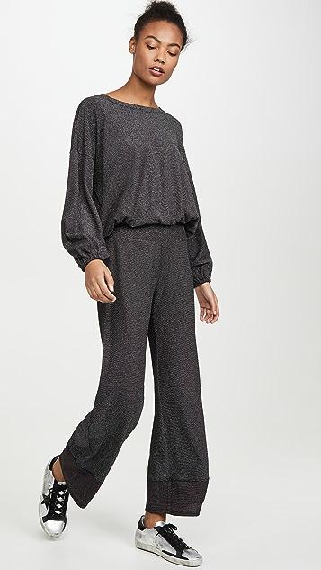 Terez Переливающиеся трикотажные брюки с цветными блоками
