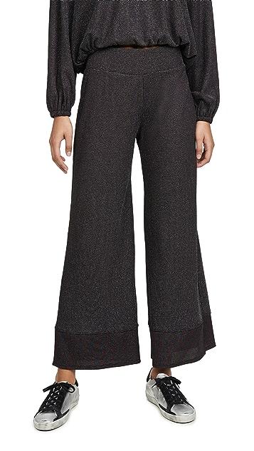 Terez Colorblock Shimmer Knit Pants
