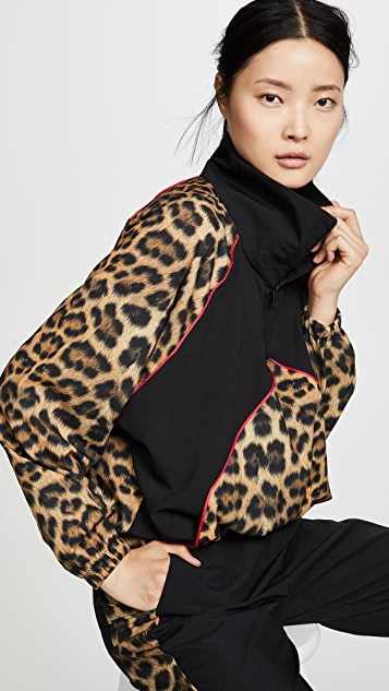 Terez Leopard Goals Windbreaker