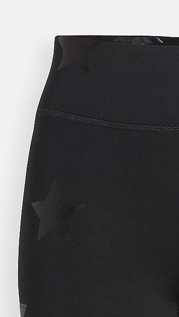 Terez 锡箔印花机车短裤