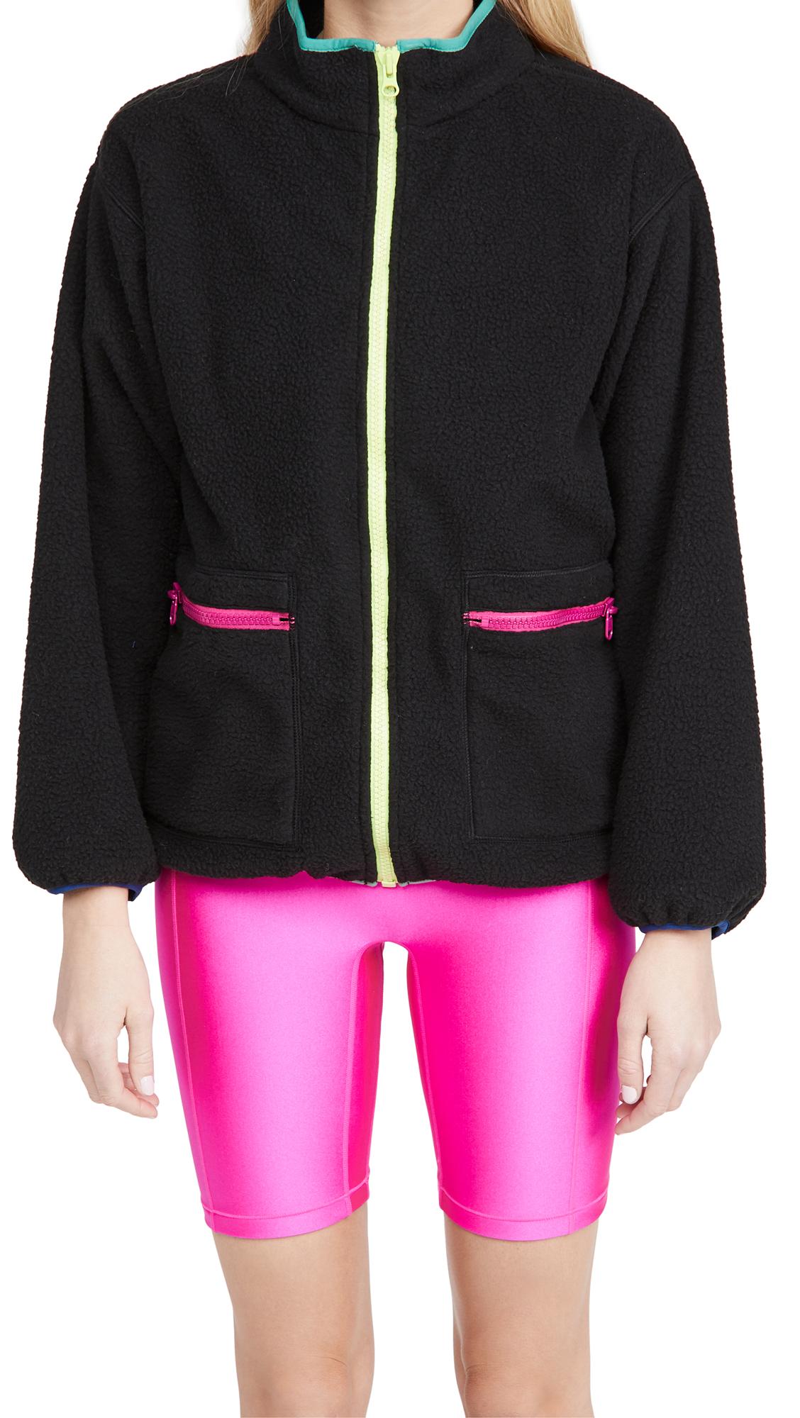 Terez Pop Trim Fleece Jacket