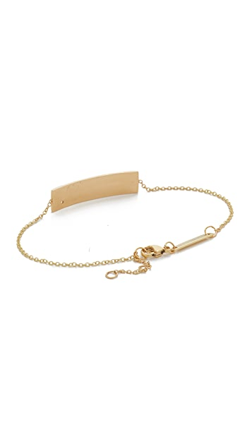 Zoë Chicco Always Know That You Are Loved 14K Gold ID Bracelet with Diamond q6CHKbGvdz