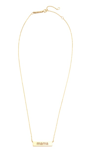 Zoe Chicco 14k Gold Mama Necklace