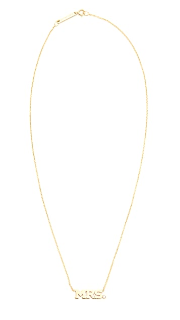 Zoe Chicco Mrs. Necklace