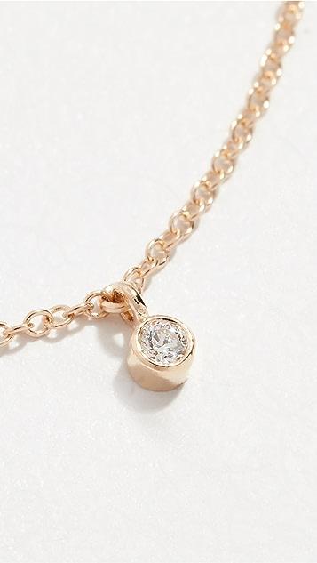Zoe Chicco Колье-ошейник из 14-каратного золота с цепочкой и пятью бриллиантами