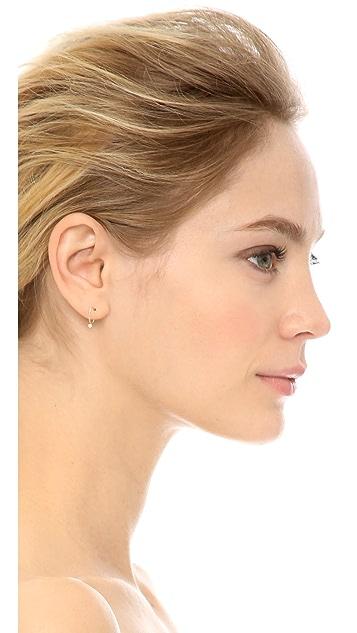 Zoe Chicco 14k Gold Bezel Diamond Huggie Earrings