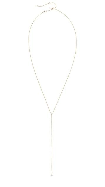 Zoe Chicco 14k Gold Bezel Diamonds Lariat Necklace