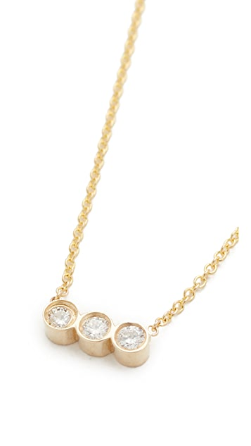 Zoe Chicco 14k Gold Bezel Diamonds Short Pendant Necklace
