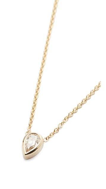 Zoe Chicco 14k Gold Paris Short Pendant Necklace