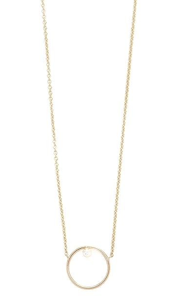 Zoe Chicco 14k Gold Paris Short Circle Necklace