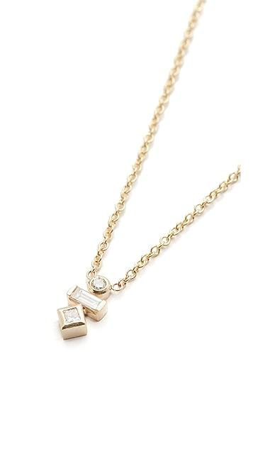 Zoe Chicco Paris Bezel Short Pendant Necklace