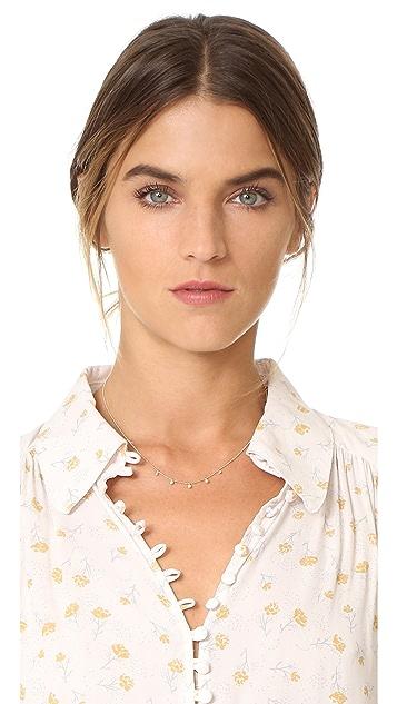 Zoe Chicco 14k Gold Bezel Diamonds Station Necklace