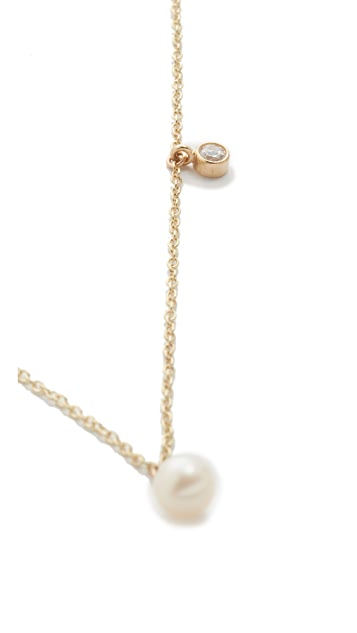 Zoe Chicco 14k Gold Freshwater Cultured Pearl Station Necklace