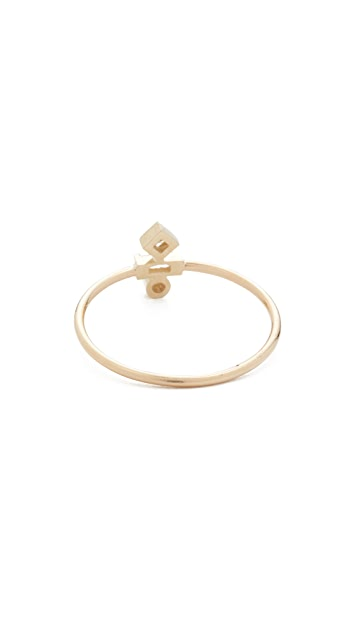 Zoe Chicco 14k Gold Paris Bezel Stacking Ring