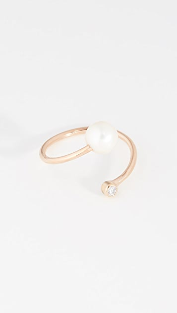 Zoe Chicco 14k Gold Freshwater Cultured Pearl Statement Ring - Gold/Pearl
