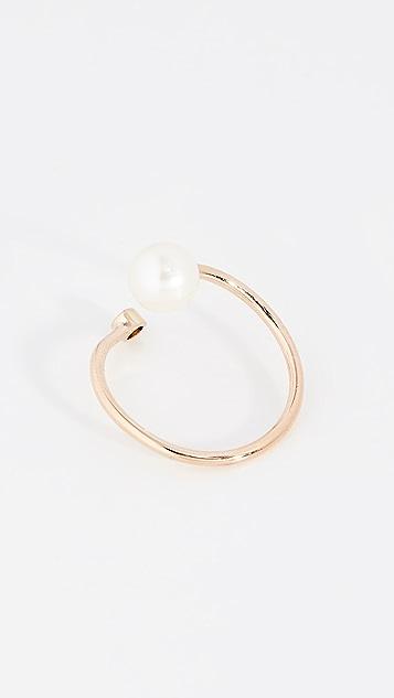 Zoe Chicco Крупное кольцо с пресноводным культивированным жемчугом