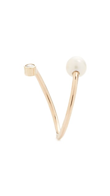 Zoe Chicco 14k Gold Freshwater Cultured Pearl Statement Ring