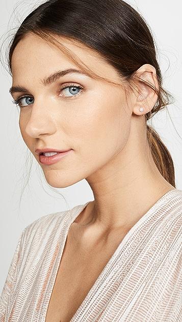 Zoe Chicco 14K 金淡水养殖珍珠贴耳耳环