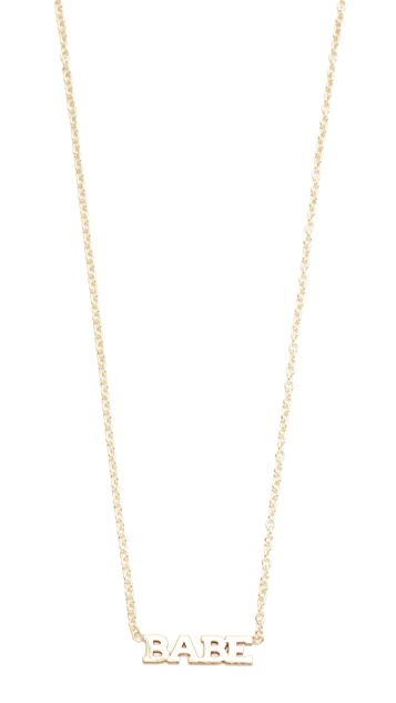 Zoe Chicco 14k Gold Babe Short Pendant Necklace
